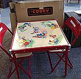 Childs table and chairs from the 1950's in original box